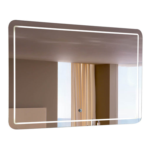 "Aquamoon 198901 Led Bathroom Mirror 60"" X 27.5"" Wall Mounted Side Switch 6000K High Lumen"