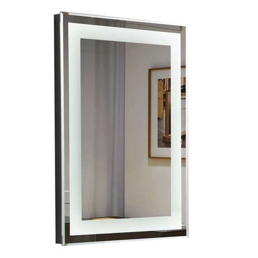 "Aquamoon 226801 Led Bathroom Mirror 24"" X 31"" Wall Mounted Side Switch 6000K High Lumen"