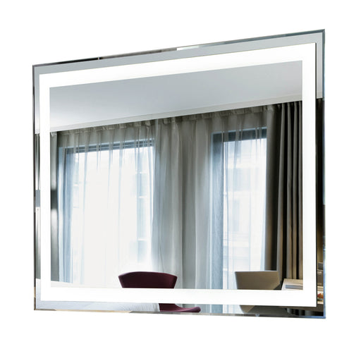 "Aquamoon 226801 Led Bathroom Mirror 31"" X 27.5"" Wall Mounted Side Switch 6000K High Lumen"