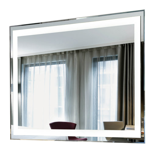 "Aquamoon 226801 Led Bathroom Mirror 39"" X 27.5"" Wall Mounted Side Switch 6000K High Lumen"