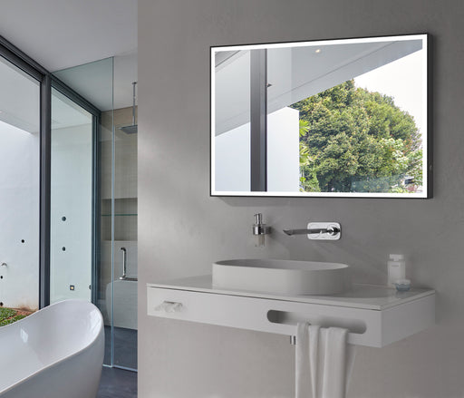 "Aquamoon 257501 Led Bathroom Mirror 60"" X 27.5"" Wall Mounted Side Switch 6000K High Lumen With Anti-Fog"