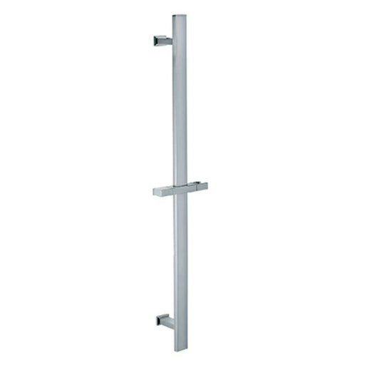 Aquamoon 1012 Square Stainless Steel Slide Bar With Height Adjustable, Chrome Finished