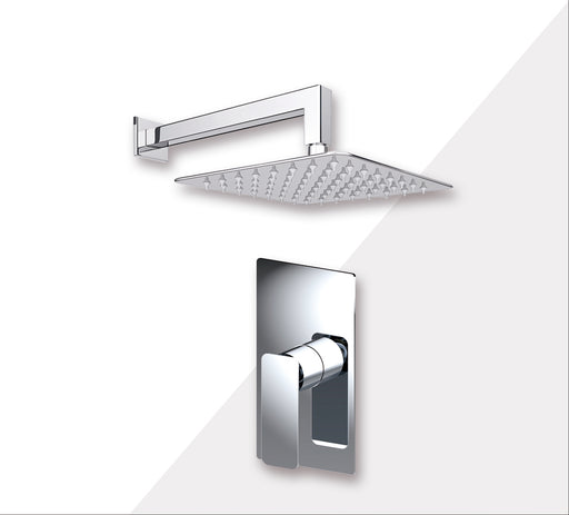 "Aquamoon AXO Chrome  Bathroom Modern Rain Mixer Shower Combo Set Wall Mounted Rainfall Shower Head 8"" + Rough in + Trim Incluided SETAXO10811"
