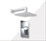 "Aquamoon AXO Chrome Bathroom Modern Rain Mixer Shower Combo Set Wall Mounted Rainfall Shower Head 12"" + Rough in + Trim Incluided SETAXO11211"
