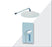 "Aquamoon Bali Chrome  Bathroom Modern Rain Mixer Shower Combo Set Wall Mounted Rainfall Shower Head 8"" + Rough In + Trim Included Setbali10811"