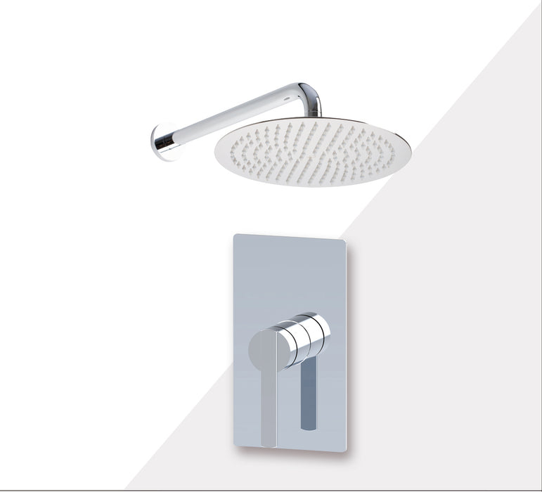 "Aquamoon BALI Brush Nickel   Bathroom Modern Rain Mixer Shower Combo Set Wall Mounted Rainfall Shower Head 12"" + Rough in + Trim Incluided SETBALI11211"