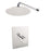 "Aquamoon BARCELONA Chrome  Bathroom Modern Rain Mixer Shower Combo Set Wall Mounted Rainfall Shower Head 8"" + Rough in + Trim Incluided SETBAR10811"