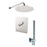 "Aquamoon Barcelona Chrome  Bathroom Modern Rain Mixer Shower Combo Set Wall Mounted Rainfall Shower Head 8"" + Rough In + Trim Included + Handheld Setbar10831"
