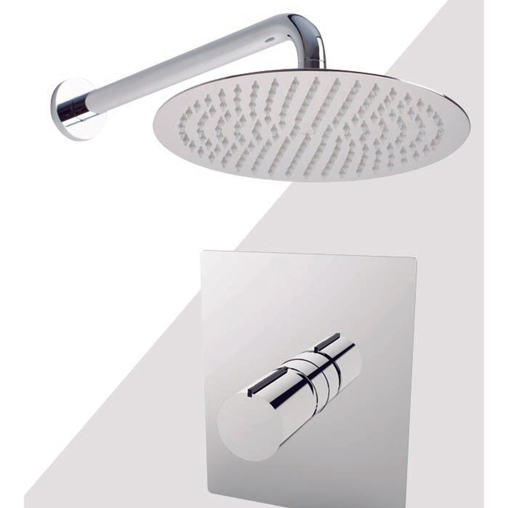 "Aquamoon BARCELONA Brush Nickel  Shower with Tub Spout and 12"" Rain Shower Head, Wall Mounted Arm + Rough in + Trim Incluided SETBAR11222"