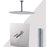 "Aquamoon BARCELONA Brush Nickel   Bathroom Modern Rain Mixer Shower Combo Set Ceiling Arm Mounted + Rainfall Shower Head 8"" + Rough in + Trim Incluided + Handheld SETBAR20832"