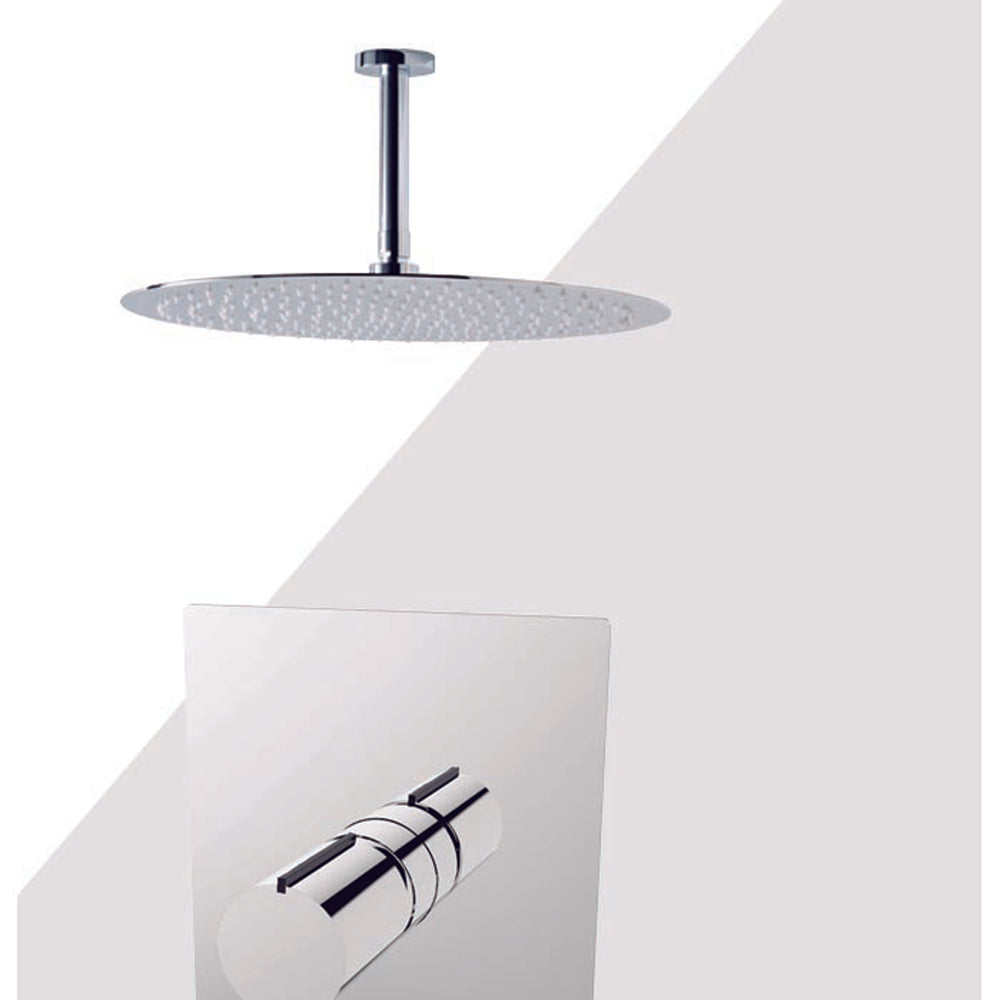 "Aquamoon BARCELONA Brush Nickel  Bathroom Modern Rain Mixer Shower Combo Set Ceiling Arm Mounted + Rainfall Shower Head 12"" + Rough in + Trim Incluided SETBAR21211"