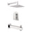 "Aquamoon HAVANA Brush Nickel  Shower with Tub Spout and 8"" Rain Shower Head, Wall Mounted Arm + Rough in + Trim Incluided SETHAV10822"