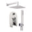 "Aquamoon HAVANA Chrome  Bathroom Modern Rain Mixer Shower Combo Set Wall Mounted Rainfall Shower Head 8"" + Rough in + Trim Incluided + Handheld SETHAV10831"