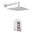 "Aquamoon Havana Chrome Bathroom Modern Rain Mixer Shower Combo Set Wall Mounted Rainfall Shower Head 12"" + Rough In + Trim Included Sethav11211"
