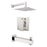 "Aquamoon MILAN Brush Nickel Shower with Tub Spout and 8"" Rain Shower Head, Wall Mounted Arm + Rough in + Trim Incluided SETMIL10822 - Bath Trends USA"