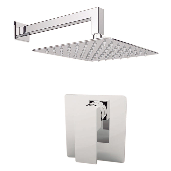 "Aquamoon MILAN Brush Nickel   Bathroom Modern Rain Mixer Shower Combo Set Wall Mounted Rainfall Shower Head 12"" + Rough in + Trim Incluided SETMIL11211"