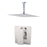 "Aquamoon Milan Brushed Nickel   Bathroom Modern Rain Mixer Shower Combo Set Ceiling Arm Mounted + Rainfall Shower Head 8"" + Rough In + Trim Included Setmil20811"