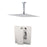 "Aquamoon MILAN Brush Nickel   Bathroom Modern Rain Mixer Shower Combo Set Ceiling Arm Mounted + Rainfall Shower Head 8"" + Rough in + Trim Incluided SETMIL20811"