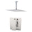 "Aquamoon MILAN Brush Nickel  Bathroom Modern Rain Mixer Shower Combo Set Ceiling Arm Mounted + Rainfall Shower Head 12"" + Rough in + Trim Incluided SETMIL21211"