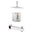 "Aquamoon Milan Chrome Shower With Tub Spout And 12"" Rain Shower Head, Ceiling Mounted Arm + Rough In + Trim Included Setmil21221"