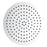 "Aquamoon 12""  Brushed Nickel Round Stainless Steel Shower Head Modern Shower Head  12 X 0.5"