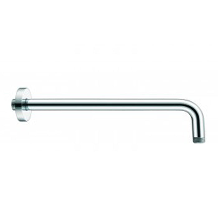 "Aquamoon 15"" Shower Arm Wall Round Brushed Nickel With Flange"