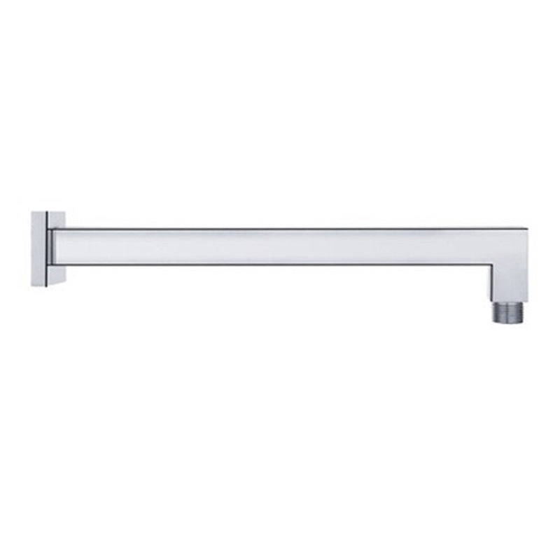 "Aquamoon 15"" Shower Arm Wall Square Brushed Nickel With Flange"