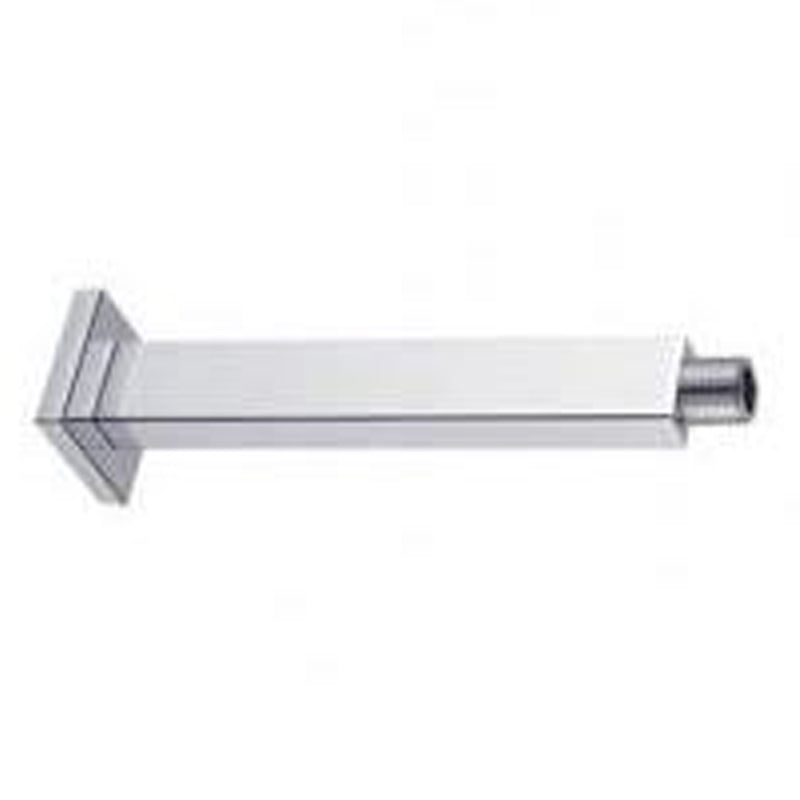"Aquamoon 15"" Shower Arm Ceiling Square Brushed Nickel With Flange"