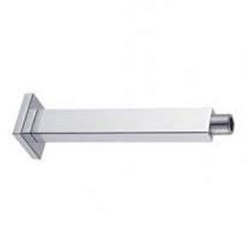 "Aquamoon 15"" Shower Arm Ceiling Square Chrome With Flange"