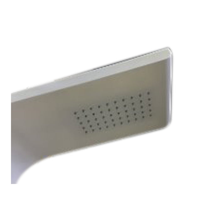 Aquamoon Brescia White Wall Mount Bathroom Shower Panel 57.5 X 8.5 With  Rainfall Shower Head + Handhled Shower + Massage Body Jets