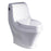 Eago 133 Single Flush Elongated One Piece Toilet With Soft Closing Seat, Water Sense, High-Efficiency, Color White
