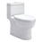 Eago 359 Dual Flush Elongated One Piece Toilet With Soft Closing Seat, Water Sense, High-Efficiency, Color White