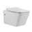 Aquamoon 708 Square Wall-Hung Elongated One Piece Toilet With Soft Closing Seat, Water Sense, High-Efficiency, Color White