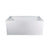 "Aquamoon Turin 60""  Left Drain Acrylic Skirted Contemporary Tub Color White"