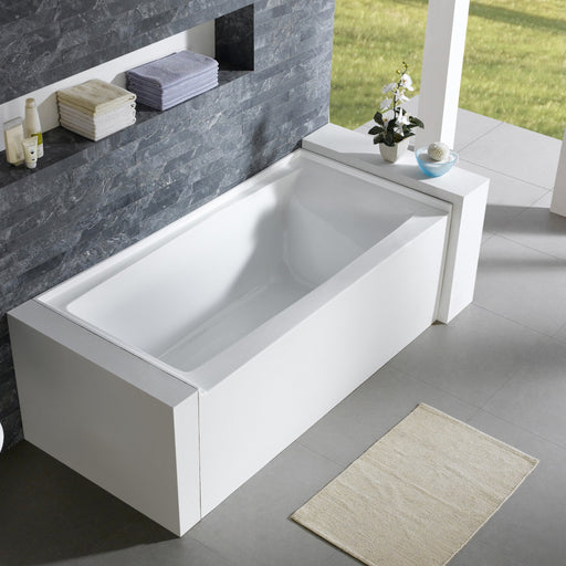 "Aquamoon Turin 60""  Right Drain Acrylic Skirted Contemporary Tub Color White"