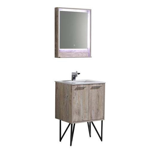 Aquamoon Canyon 24 Ashwood Wall Mounted or Free Standing Bathroom Vanity Set