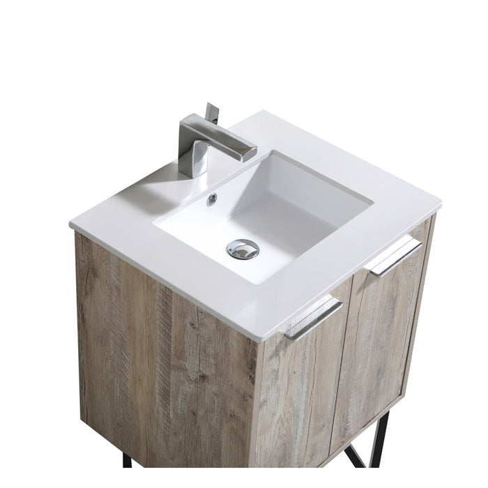 Aquamoon Canyon 24 Ashwood Wall Mounted or Free Standing Bathroom Vanity Set - Bath Trends USA