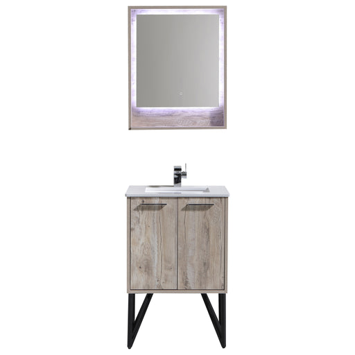 Aquamoon Canyon 30 Ashwood Wall Mounted or Free Standing Modern Bathroom Vanity Set - Bath Trends USA