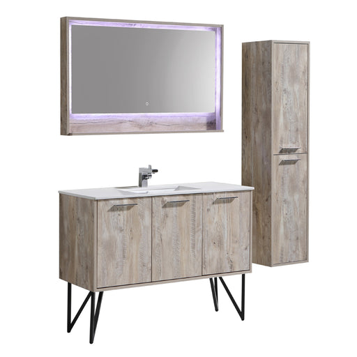 Aquamoon Canyon 48 Ashwood Wall Mounted or Free Standing Modern Bathroom Vanity Set - Bath Trends USA