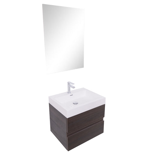 Aquamoon Contessa 24  Wendge Wall Mounted Modern Bathroom Vanity Set