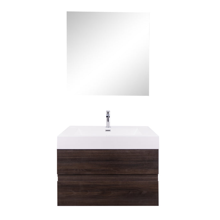 Aquamoon Contessa 31  Wendge Wall Mounted Modern Bathroom Vanity Set