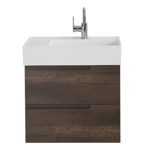 Aquamoon Cronos 24 Wendge Wall Mounted Modern Bathroom Vanity Set