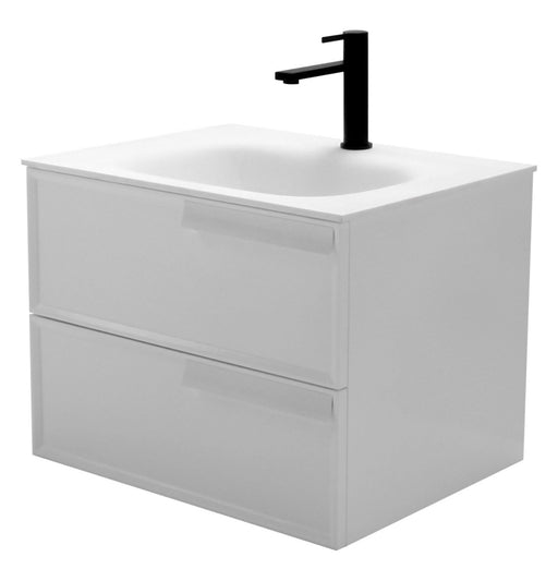 Aquamoon Garda 24 White Wall Hung Modern Bathroom Vanity Set W/Mirror - Bath Trends USA