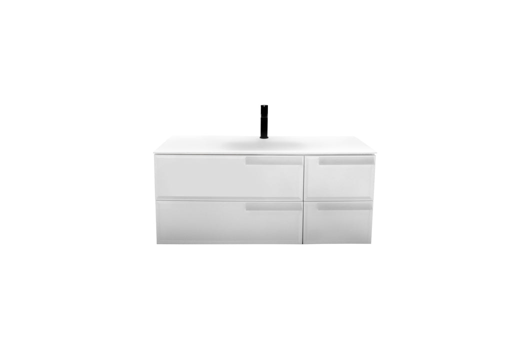 Aquamoon Garda 40 White Wall Hung Modern Bathroom Vanity Set