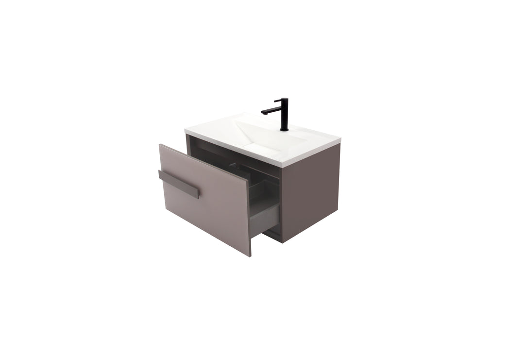 Aquamoon Geneva 30 Brown Wall Hung Modern Bathroom Vanity Set