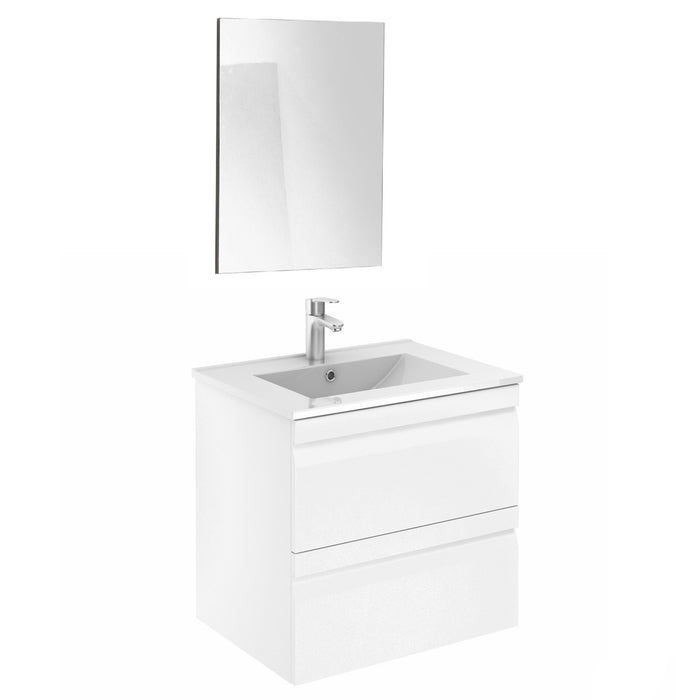 Aquamoon Girona 24 White  Wall Hung Modern Bathroom Vanity Set