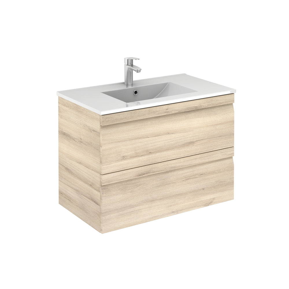 Aquamoon Girona 32 Beige Nature Wall Hung Modern Bathroom Vanity Set