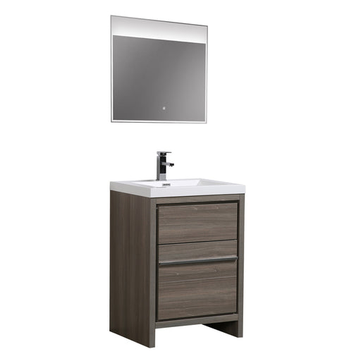 Aquamoon Granada 24 Maple Grey Free Standing Modern Bathroom Vanity Set - Bath Trends USA