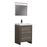 Aquamoon Granada Maple Grey 24 Maple Grey  Free Standing  Modern Cabinet - CABINET ONLY