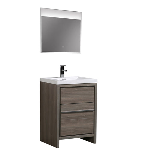 Aquamoon Granada 30 Maple Grey Free Standing Modern Bathroom Vanity Set